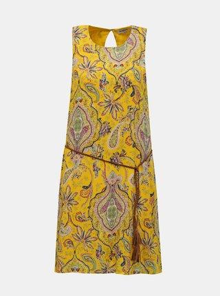 Desigual žluté šaty Vest Adriana