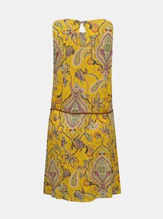 Desigual žlté šaty Vest Adriana