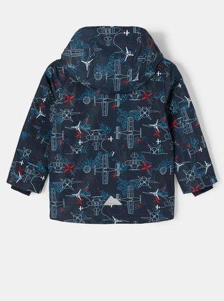 Tmavě modrá klučičí vzorovaná bunda s odepínací kapucí name it Max