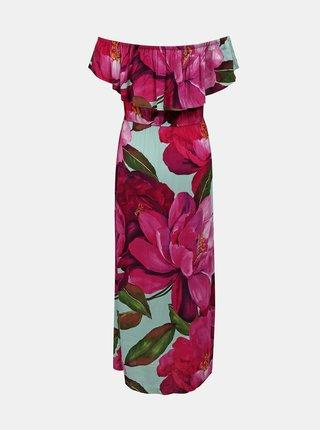 Desigual ružové maxi letné šaty Vest Arles