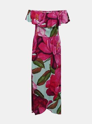 Desigual růžové maxi letní šaty Vest Arles