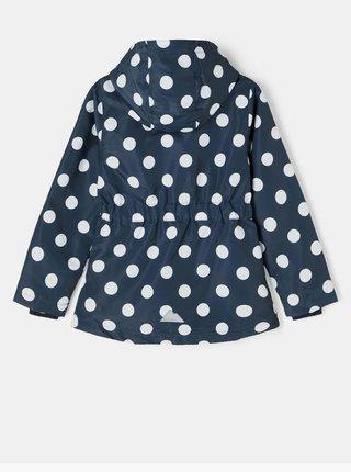 Tmavomodrá dievčenská bodkovaná bunda s odopínacou kapucou name it