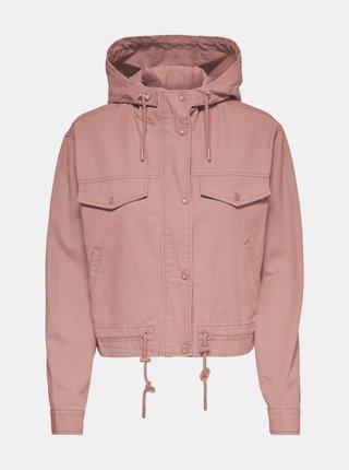 Růžová lehká bunda s kapucí ONLY Ally