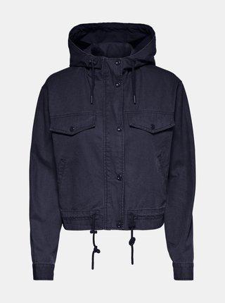 Tmavomodrá ľahká bunda s kapucou ONLY Ally