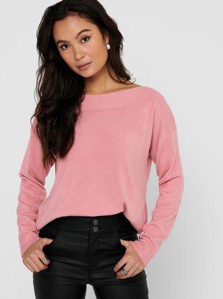 Ružový sveter ONLY Amalia