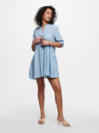 Světle modré košilové volné šaty Jacqueline de Yong Olivia
