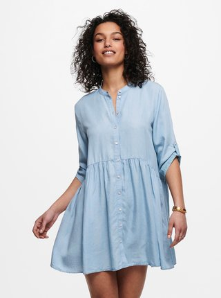 Svetlomodré košeľové voľné šaty Jacqueline de Yong Olivia