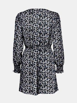Modro-černé vzorované šaty ONLY