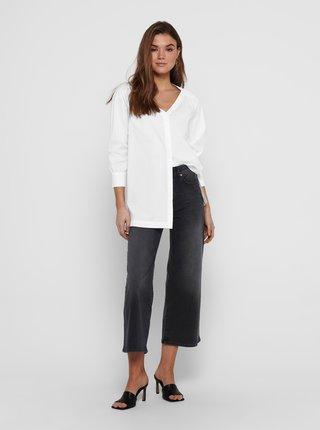 Bílá volná košile s rozparky Jacqueline de Yong Phoebe