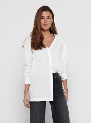 Biela voľná košeľa s rozparkami Jacqueline de Yong Phoebe