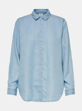 Svetlomodrá voľná rifľová košeľa Jacqueline de Yong Olivia