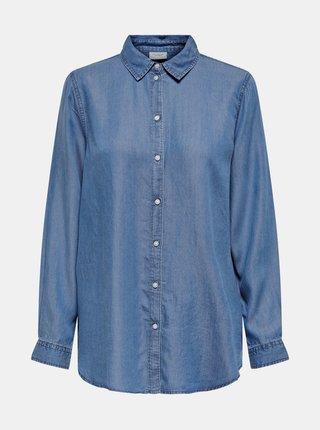 Modrá voľná rifľová košeľa Jacqueline de Yong Olivia