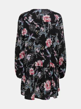 Čierne kvetované šaty Jacqueline de Yong Ross