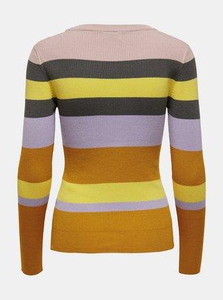 Žluto-oranžový pruhovaný svetr Jacqueline de Yong Petal