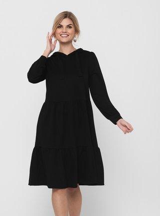 Černé mikinové šaty s kapucí Jacqueline de Yong Dale