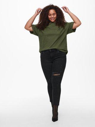 Zelené volné basic tričko ONLY CARMAKOMA Kaylee
