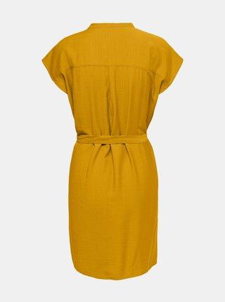 Žluté šaty se zavazováním ONLY Josey