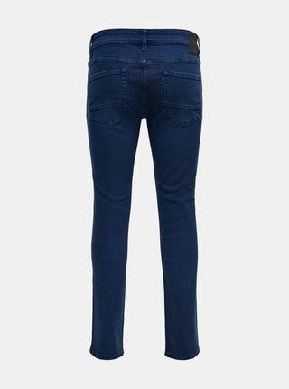 Modré slim fit kalhoty ONLY & SONS Loom
