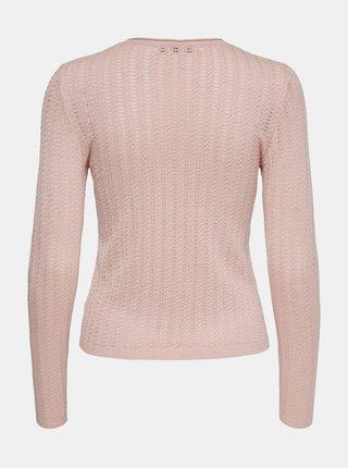Růžový lehký svetr ONLY Melba