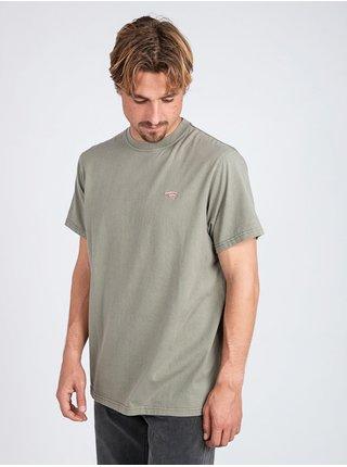Billabong QUIET RIOT   LT MILITARY pánské triko s krátkým rukávem - zelená