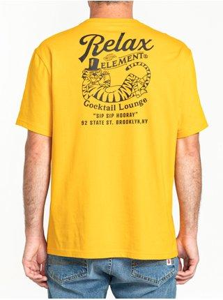 Element HOORAY OLD GOLD pánské triko s krátkým rukávem - žlutá