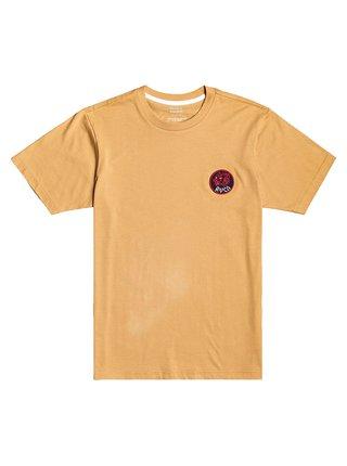 RVCA DYNASTY SUNWASH pánské triko s krátkým rukávem - béžová