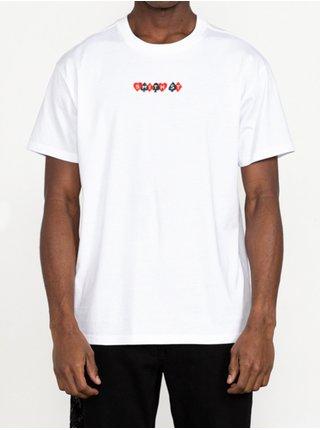RVCA BOLTZ white pánské triko s krátkým rukávem - bílá