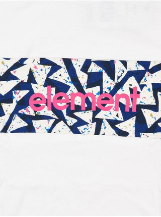Element MASTER off white pánské triko s krátkým rukávem - bílá