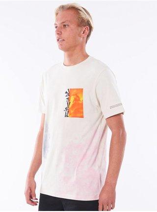 Rip Curl SURF HEADS TIE DYE Vintage White pánské triko s krátkým rukávem - bílá