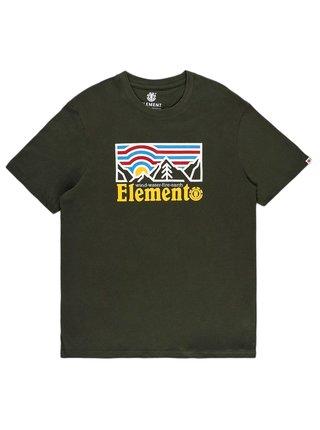 Element WANDER FOREST GREEN pánské triko s krátkým rukávem - zelená