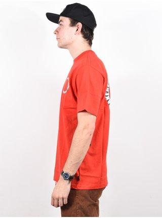 RVCA BAKER RED pánské triko s krátkým rukávem - červená