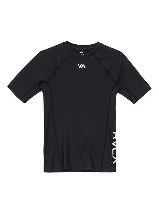 RVCA COMPRESSION black pánské triko s krátkým rukávem - černá
