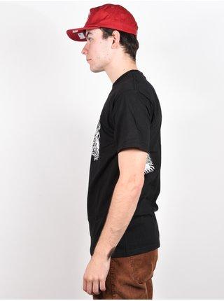 Spitfire FIEND SF BLK/RED pánské triko s krátkým rukávem - černá