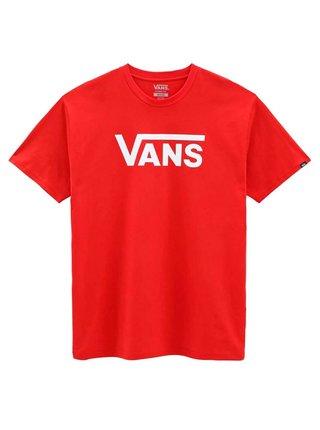 Vans CLASSIC high risk red/white pánské triko s krátkým rukávem - červená