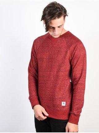 Element MERIDIAN RED DALHIA pánské triko s dlouhým rukávem - červená