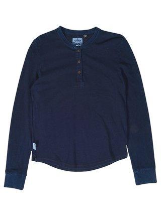 Element INDIGO HENLEY INDIGO BLUE pánské triko s dlouhým rukávem - modrá