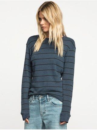 RVCA NEUTRAL indigo pánské triko s dlouhým rukávem - černá