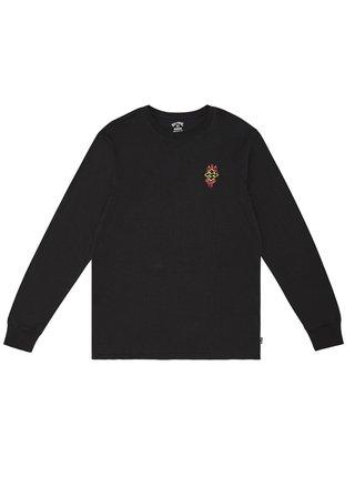 Billabong PAST LOVE  black pánské triko s dlouhým rukávem - černá