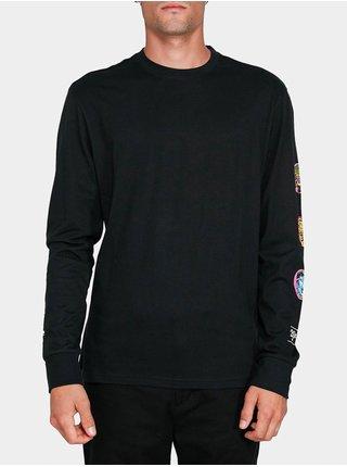 Element TRIPLE FLINT BLACK pánské triko s dlouhým rukávem - černá