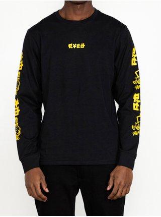 RVCA SEND NOODLES black pánské triko s dlouhým rukávem - černá