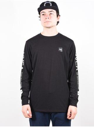 RVCA VA SPORT black pánské triko s dlouhým rukávem - černá