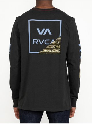 RVCA FRACTION PIRATE BLACK pánské triko s dlouhým rukávem - černá