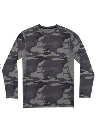 RVCA SPORT VENT CAMO pánské triko s dlouhým rukávem - černá