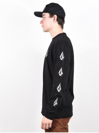 Volcom Deadly Stone Rlx black pánské triko s dlouhým rukávem - černá