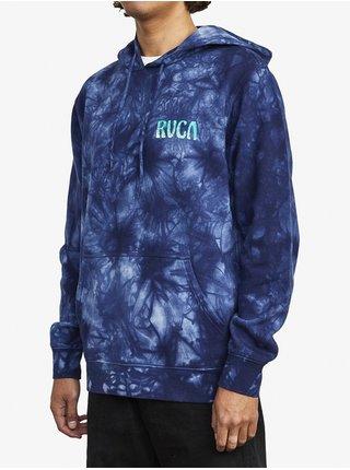 RVCA TOURIST TRAP BLUE TIE DYE mikiny přes hlavu pánská - modrá