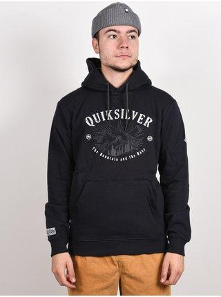 Quiksilver BIG LOGO TRUE BLACK mikiny přes hlavu pánská - černá
