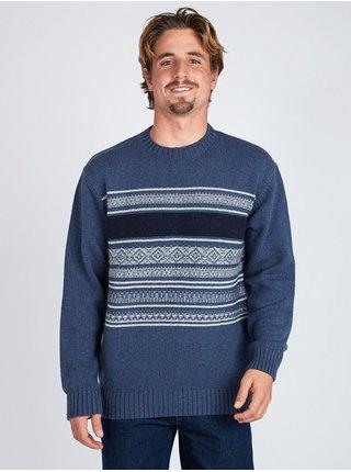 Billabong MAYFIELD DENIM BLUE svetr pánský - modrá