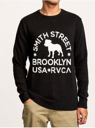 RVCA SMITH STREET black svetr pánský - černá