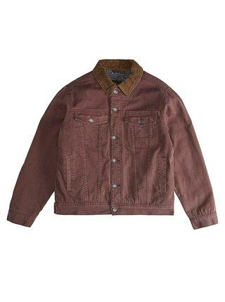 Billabong BARLOW RUST BROWN podzimní bunda pro muže - hnědá