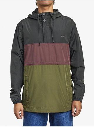 RVCA KRAIL ANAROK PIRATE BLACK podzimní bunda pro muže - černá